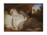 Portrait Miniature of 'A Child Asleep', after Joshua Reynolds Giclee Print by Samuel Shelley
