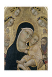 Madonna and Child with Angels and Saints, C.1450 Giclee Print by  Sano di Pietro