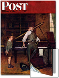 """Piano Tuner"" Saturday Evening Post Cover, January 11,1947 Poster by Norman Rockwell"