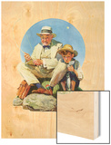 """Catching the Big One"", August 3,1929 Wood Print by Norman Rockwell"
