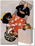 """Bridge Game"" or ""Playing Cards"", May 15,1948 Prints by Norman Rockwell"