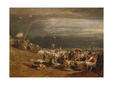 A Fishmarket on the Beach, C.1802-04 Giclee Print by Joseph Mallord William Turner