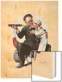 """Setting One's Sights"" or ""Ship Ahoy"", August 19,1922 Wood Print by Norman Rockwell"