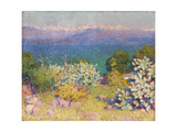 In the Morning, Alpes Maritimes from Antibes, 1890-91 Giclee Print by John Peter Russell