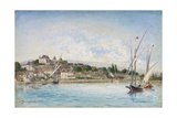 Landscape from Lake Leman to Nyon, 1875 Giclee Print by Johan-Barthold Jongkind