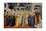 Mary's Homecoming from the Temple, C.1448-51 Giclee Print by  Sano di Pietro