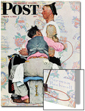 """Tattoo Artist"" Saturday Evening Post Cover, March 4,1944 Prints by Norman Rockwell"