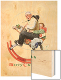 """Gramps on Rocking Horse"", December 16,1933 Wood Print by Norman Rockwell"