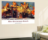 """The Christmas Coach"", December 28,1935 Wall Mural by Norman Rockwell"