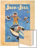 A Day in Outerspace - Jack and Jill, September 1957 Wood Print by Lou Segal