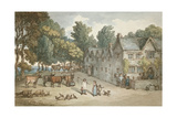 A Farmhouse at Hengar, Cornwall, 1803 Giclee Print by Thomas Rowlandson