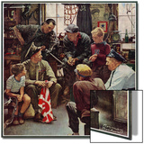 """Homecoming Marine"", October 13,1945 Print by Norman Rockwell"