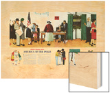 """Norman Rockwell Paints America at the Polls"", November 4,1944 Wood Print by Norman Rockwell"