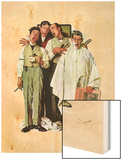 """Barbershop Quartet"", September 26,1936 Wood Print by Norman Rockwell"