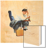"""Balancing the Expense Account"", November 30,1957 Wood Print by Norman Rockwell"