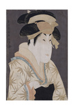 An Okubi-E Portrait of the Actor Segawa Kikunojo III in the Role of Oshizu Giclee Print by  Toshusai Sharaku