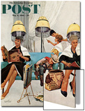 """Cowboy Asleep in Beauty Salon,"" Saturday Evening Post Cover, May 6, 1961 Prints by Kurt Ard"