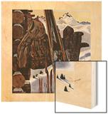 """Ski Equipment Still Life,"" February 3, 1945 Wood Print by John Atherton"