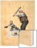 """Gramps at the Plate"", August 5,1916 Wood Print by Norman Rockwell"