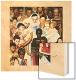 """Golden Rule"" (Do unto others), April 1,1961 Wood Print by Norman Rockwell"