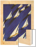 """Sailboat Regatta,"" June 29, 1940 Wood Print by Ski Weld"