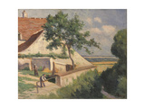 Rolleboise, Behind the Church (La Maison Luce), C.1920 Giclee Print by Maximilien Luce