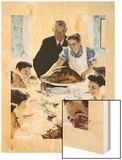 """""""Freedom From Want"""", March 6,1943 Wood Print by Norman Rockwell"""