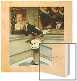 """""""Art Critic"""", April 16,1955 Wood Print by Norman Rockwell"""