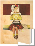 """Cover Girl"", March 1,1941 Wood Print by Norman Rockwell"