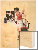 """Champ or Be a Man"", April 29,1922 Wood Print by Norman Rockwell"