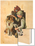 """Making Friends"" or ""Raleigh Rockwell"", September 28,1929 Wood Print by Norman Rockwell"