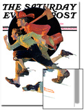 """To the Rescue"" Saturday Evening Post Cover, March 28,1931 Print by Norman Rockwell"