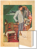 """Imperfect Fit"", December 15,1945 Wood Print by Norman Rockwell"