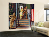 """""""Two Generations of Vets,"""" July 5, 1947 Wall Mural – Large by Stevan Dohanos"""