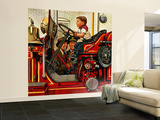 """Boy on Fire Truck"", November 14, 1953 Wall Mural – Large by Stevan Dohanos"