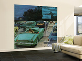 """""""Drive-In Movies,"""" August 19, 1961 Wall Mural – Large by George Hughes"""