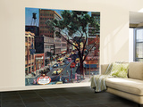 """Peachtree Street,"" June 25, 1960 Wall Mural – Large by John Falter"