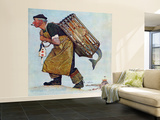 """Mermaid"" or ""Lobsterman"", August 20,1955 Wall Mural – Large by Norman Rockwell"
