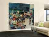 """""""Clubhouse on Rainy Day,"""" July 8, 1961 Wall Mural – Large by Ben Kimberly Prins"""