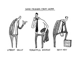 (Some Friends from Work -- Depictions of Work Colleague Personalities in c... - New Yorker Cartoon Premium Giclee Print by Tom Chitty