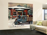 """Rural Post Office at Christmas,"" December 13, 1947 Wall Mural – Large by Stevan Dohanos"