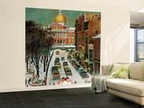 """Park Street, Boston,"" January 7, 1961 Wall Mural – Large by John Falter"