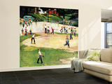 """Sandlot Homerun"", July 6, 1957 Wall Mural – Large by John Falter"