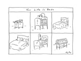 Your Life in Beds - Cartoon Premium Giclee Print by Kim Warp