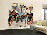 """Cowboy Asleep in Beauty Salon,"" May 6, 1961 Wall Mural – Large by Kurt Ard"