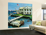 """""""Yacht Club,"""" June 23, 1962 Wall Mural – Large by George Hughes"""