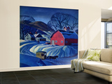 """Mail Wagon in Snowy Landscape,"" March 14, 1942 Wall Mural – Large by Dale Nichols"