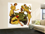 """The Wonderful Life of Wilbur the Jeep"" B Wall Mural – Large by Norman Rockwell"