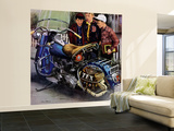 """Tex's Motorcycle"", April 7, 1951 Wall Mural – Large by Stevan Dohanos"
