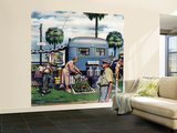 """Trailer Park Garden"", February 2, 1952 Wall Mural – Large by Stevan Dohanos"